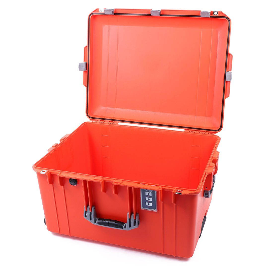 Silver /& Red Pelican 1637 Air case No Foam With wheels.