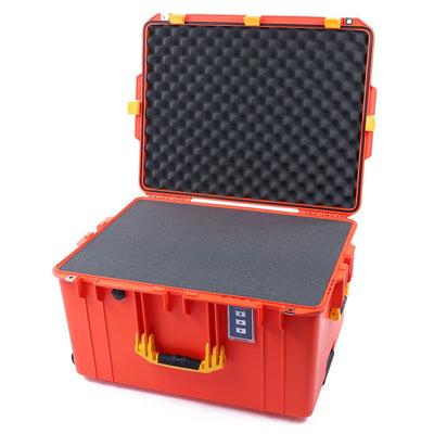 Pelican 1637 Air Case, Orange with Yellow Handles & Latches - Pelican Color Case