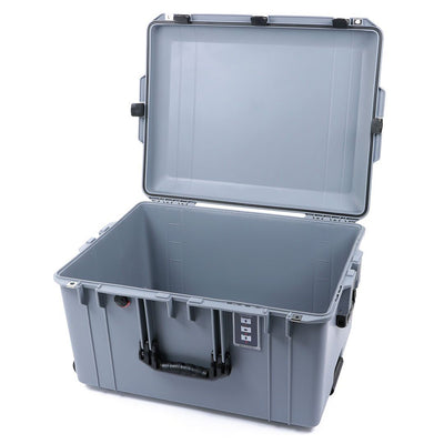 Pelican 1637 Air Case, Silver with Black Handles & Latches - Pelican Color Case