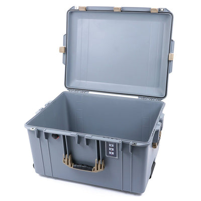 Pelican 1637 Air Case, Silver with Desert Tan Handles & Latches - Pelican Color Case