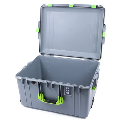 Pelican 1637 Air Case, Silver with Lime Green Handles & Latches - Pelican Color Case