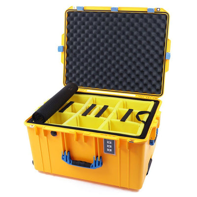 Pelican 1637 Air Case, Yellow with Blue Handles & Latches - Pelican Color Case