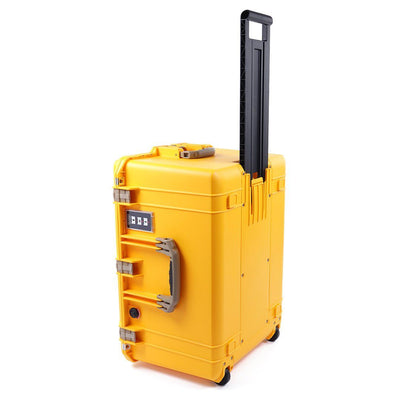 Pelican 1637 Air Case, Yellow with Desert Tan Handles & Latches - Pelican Color Case