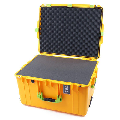 Pelican 1637 Air Case, Yellow with Lime Green Handles & Latches - Pelican Color Case