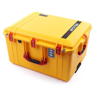 Pelican 1637 Air Case, Yellow with Red Handles & Latches - Pelican Color Case