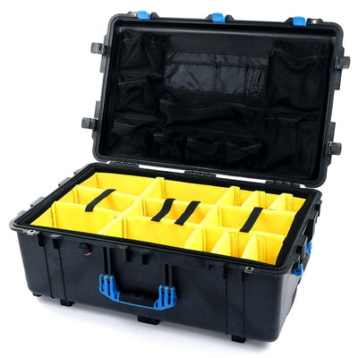 Pelican 1650 Case, Black with Blue Handles & Latches - Pelican Color Case