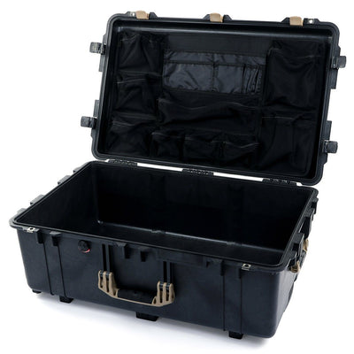 Pelican 1650 Case, Black with Desert Tan Handles & Latches - Pelican Color Case