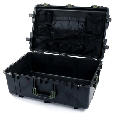 Pelican 1650 Case, Black with OD Green Handles & Latches - Pelican Color Case