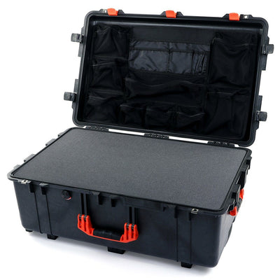 Pelican 1650 Case, Black with Orange Handles & Latches - Pelican Color Case