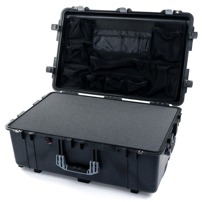 Pelican 1650 Case, Black with Silver Handles & Latches - Pelican Color Case
