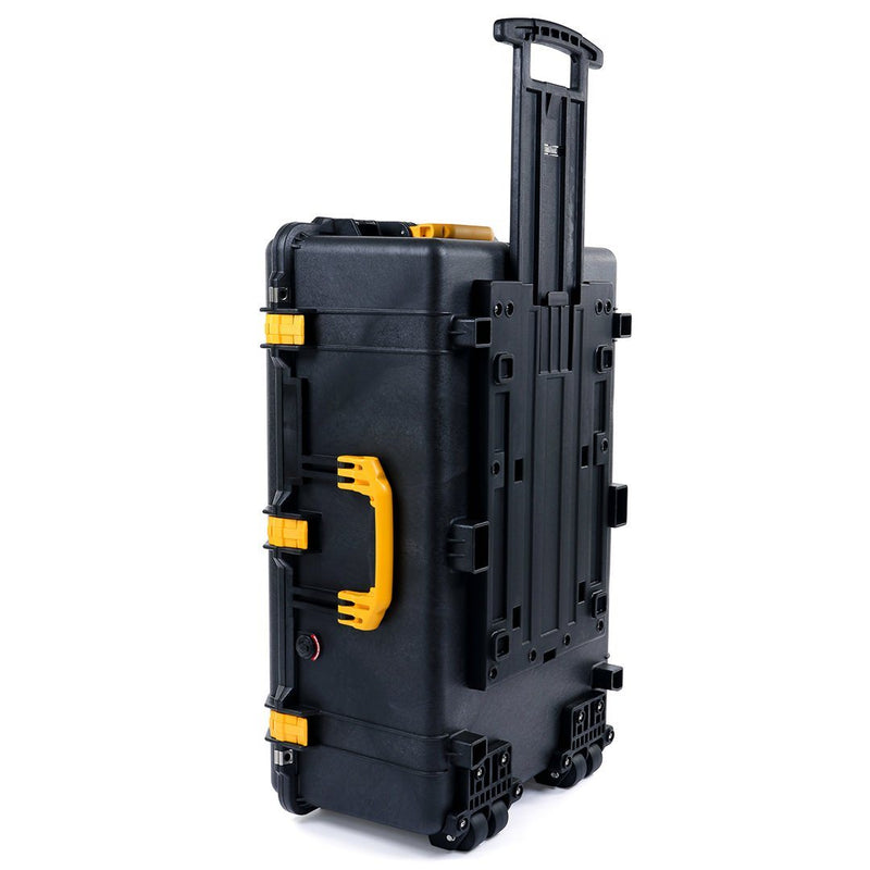 Pelican 1650 Case, Black with Yellow Handles & Latches - Pelican Color Case