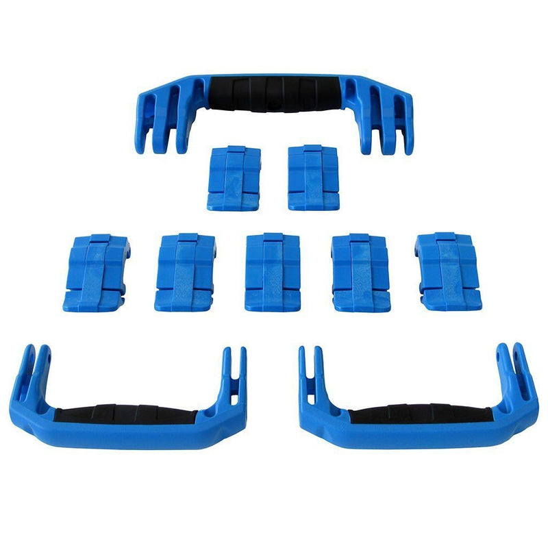 Blue Replacement Handles & Latches for Pelican 1650, 3 Blue Handles, 7 Blue Latches - Pelican Color Case