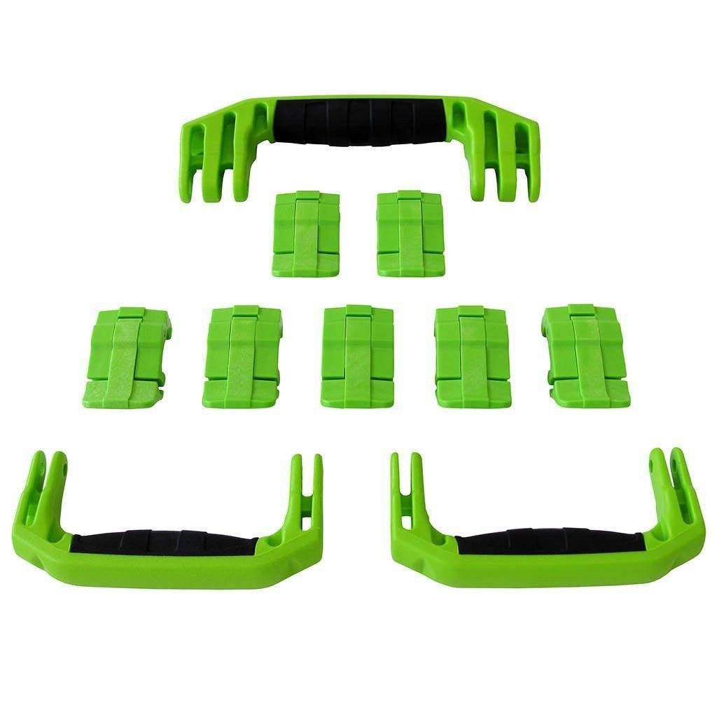 Lime Green Replacement Handles & Latches for Pelican 1650, 3 Lime Green Handles, 7 Lime Green Latches - Pelican Color Case