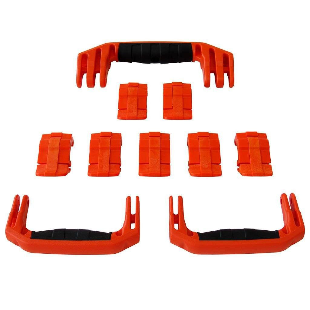 Orange Replacement Handles & Latches for Pelican 1650, 3 Orange Handles, 7 Orange Latches - Pelican Color Case