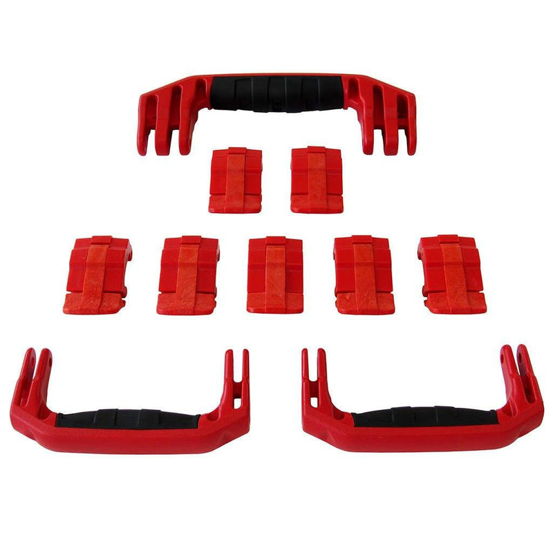 Red Replacement Handles & Latches for Pelican 1650, 3 Red Handles, 7 Red Latches - Pelican Color Case