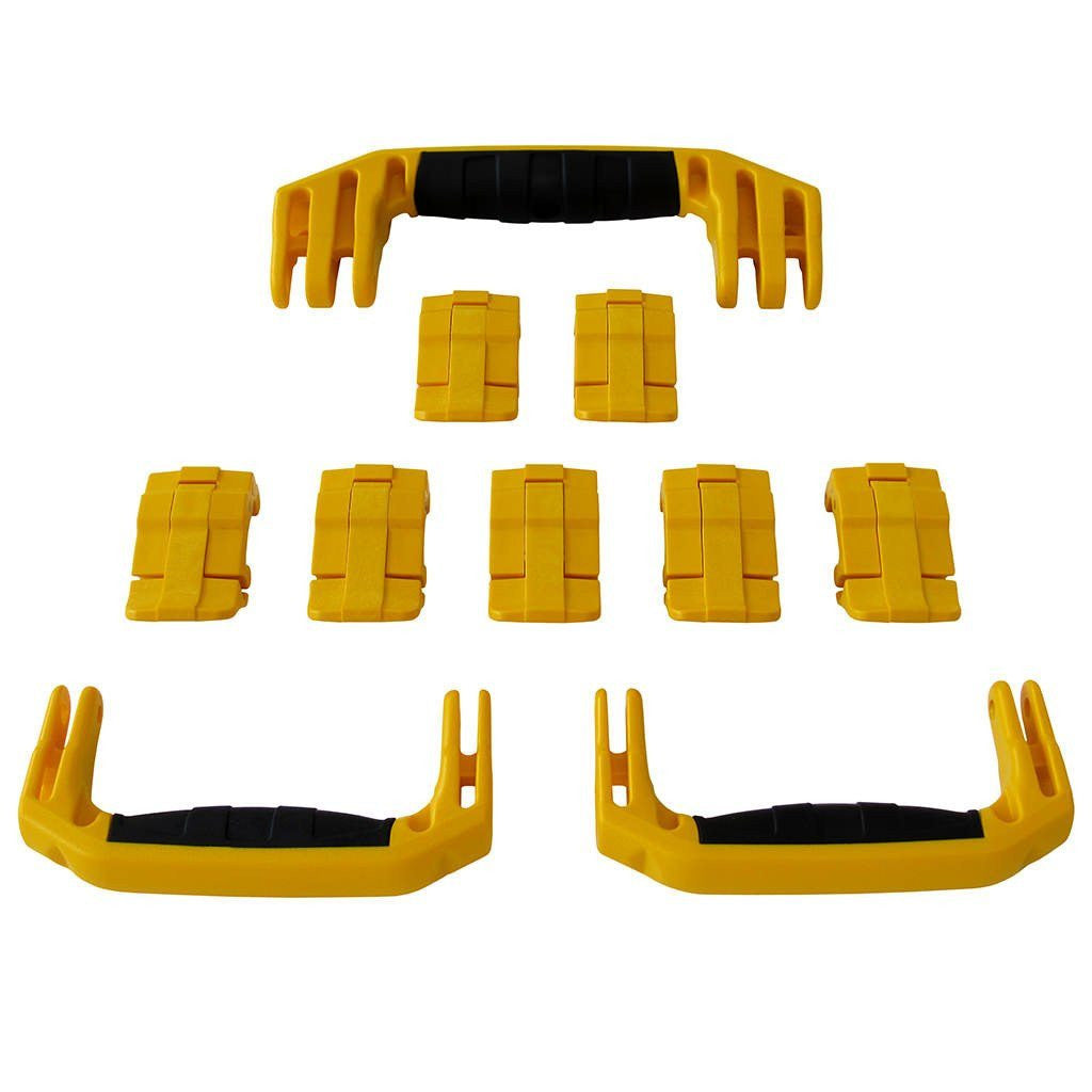 Yellow Replacement Handles & Latches for Pelican 1650, 3 Yellow Handles, 7 Yellow Latches - Pelican Color Case