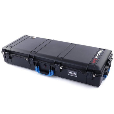 Pelican 1745 Air Case, Black with Blue Handles, Rolling - Pelican Color Case