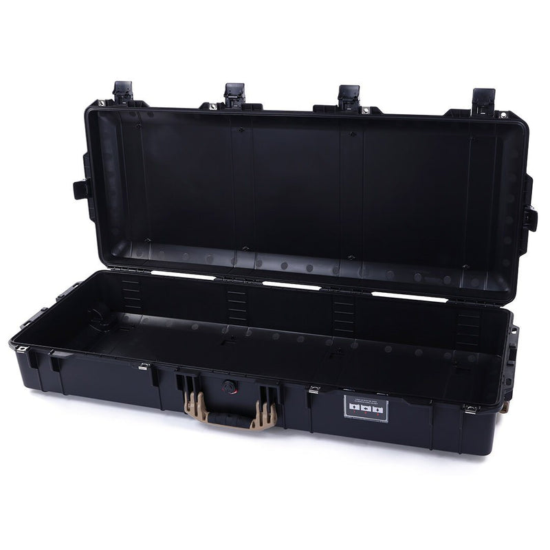 Pelican 1745 Air Case, Black with Desert Tan Handles, Rolling - Pelican Color Case
