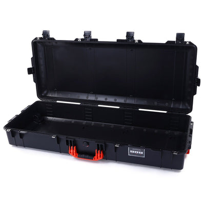 Pelican 1745 Air Case, Black with Orange Handles, Rolling - Pelican Color Case