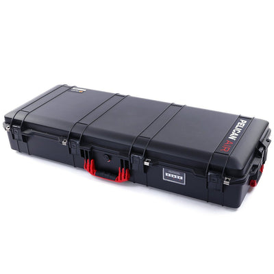 Pelican 1745 Air Case, Black with Red Handles, Rolling - Pelican Color Case