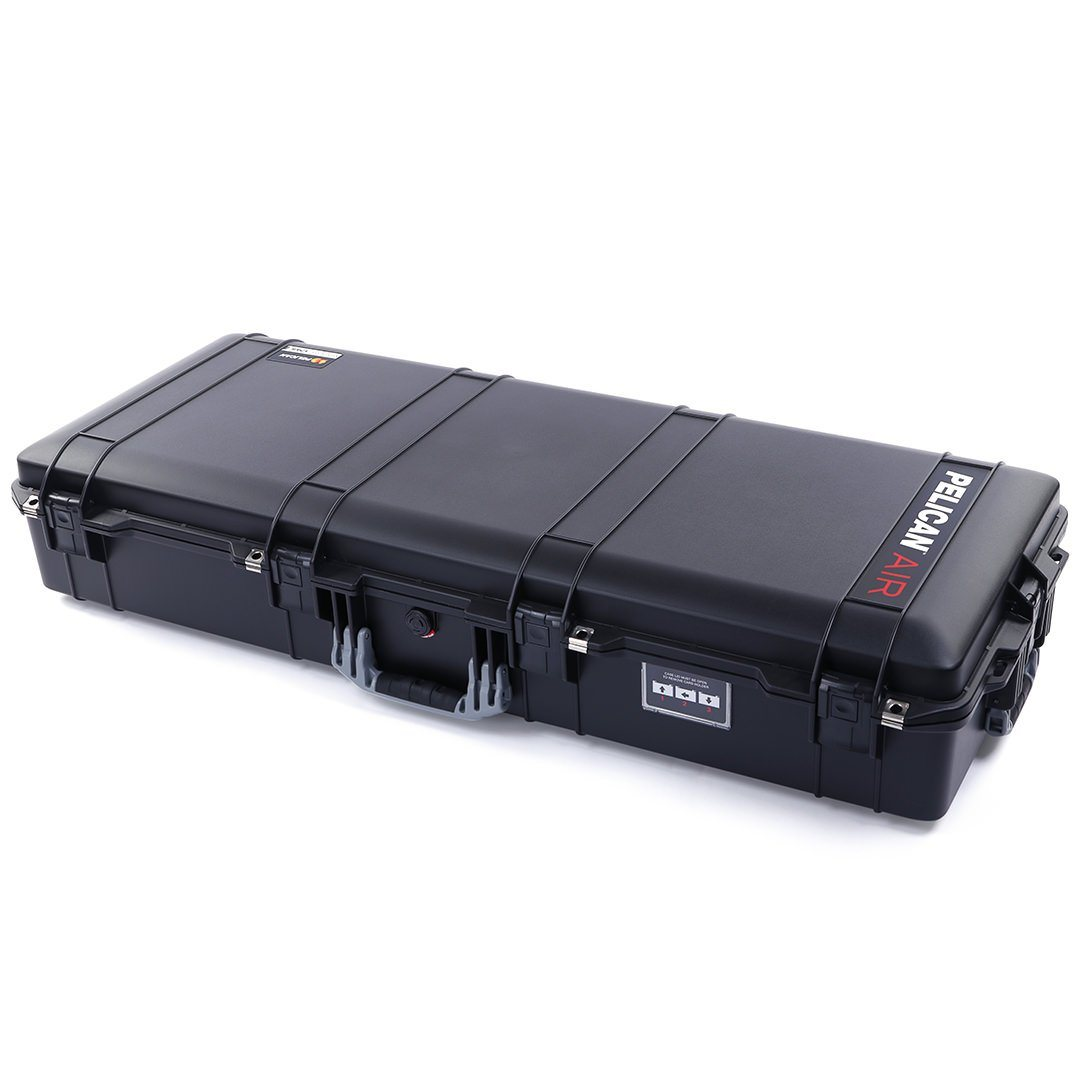 Pelican 1745 Air Case, Black with Silver Gray Handles, Rolling - Pelican Color Case