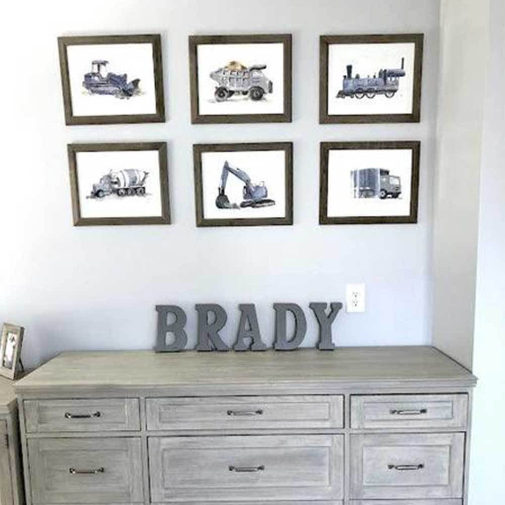 Construction Wall Art for Little Boys Rooms