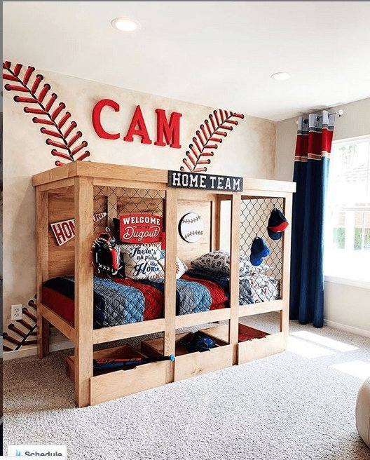 Baseball Bedroom Ideas for Boys