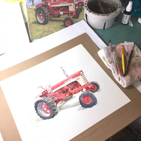 It's Tractor Season in my Studio