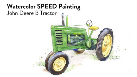 John Deere B Tractor Painting Video