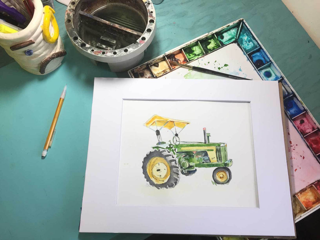 How to Paint a John Deere 720 Tractor in 50 seconds
