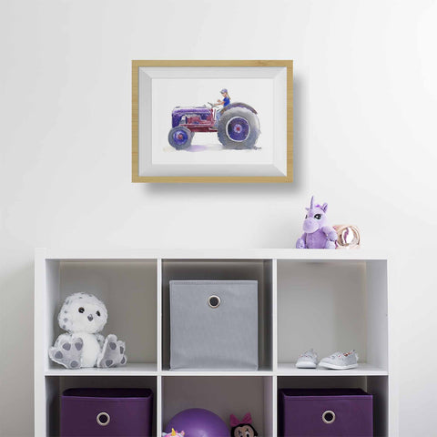 4 NEW Tractor Prints for Boys AND Girls' Rooms