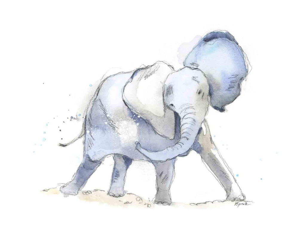 New Elephant Nursery Art