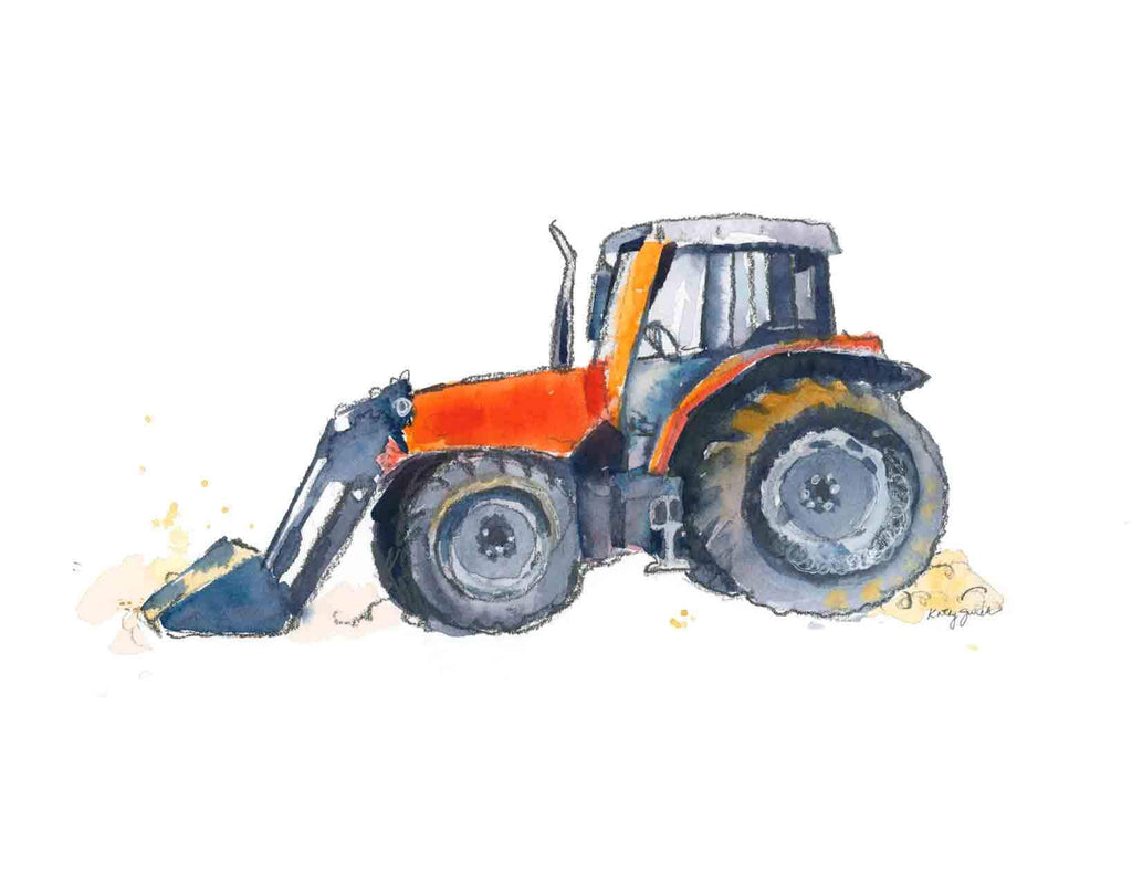 Tractor Watercolor Painting Video
