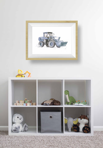 New Truck Print for Kids Rooms