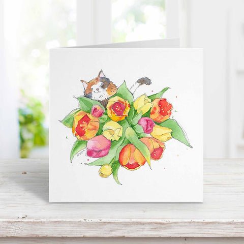 Cat + Posies Greeting Card Collection