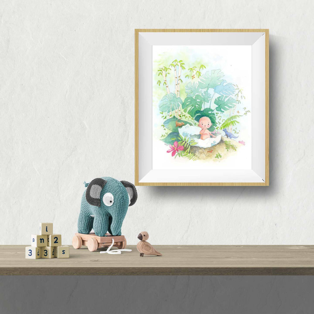 NEW Dinosaur Wall Art Baby Print