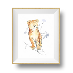 baby lion print for nursery and kids room