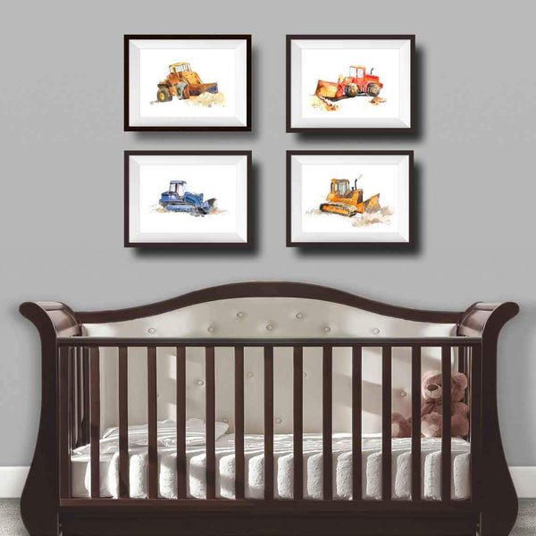 printable trucks nursery