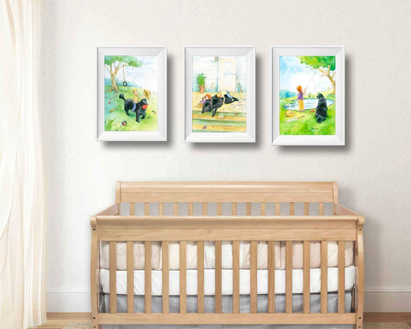 Newfoundland dog home decor nursery