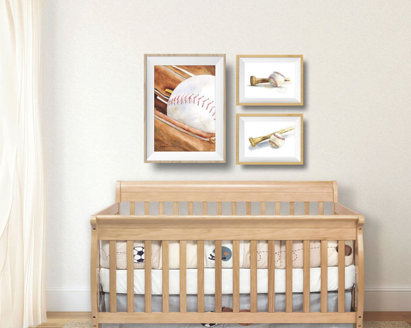 Baseball and Bat Art Print