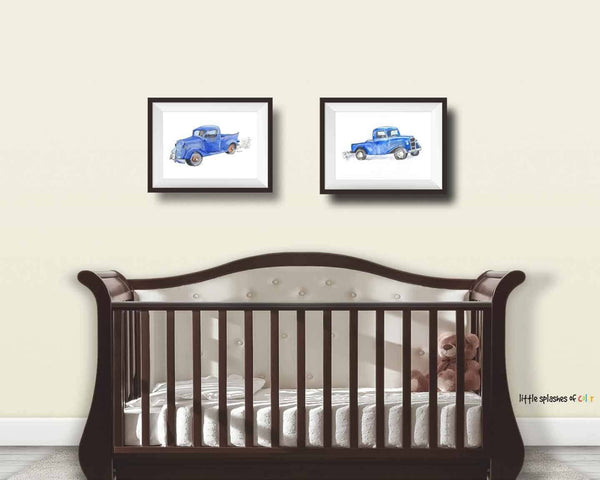 Little Blue Truck Art Print (#2)