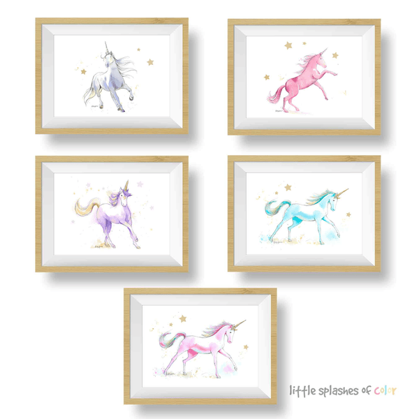 printable unicorn wall decor