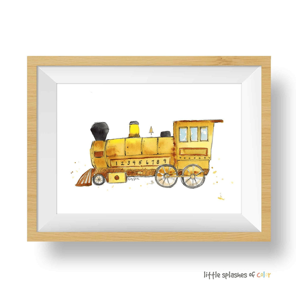 yellow train print