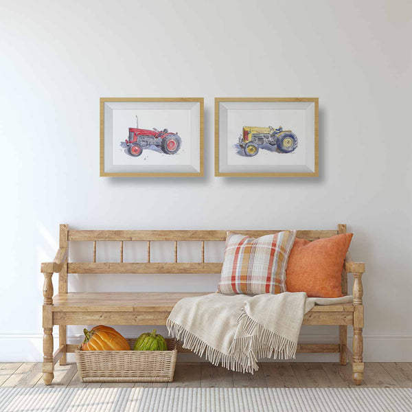 tractor prints for living room