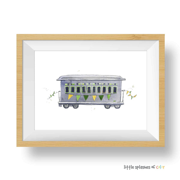 train pictures wall art