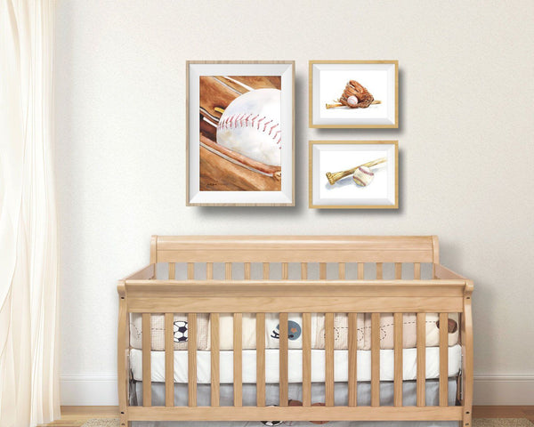 baseball art prints