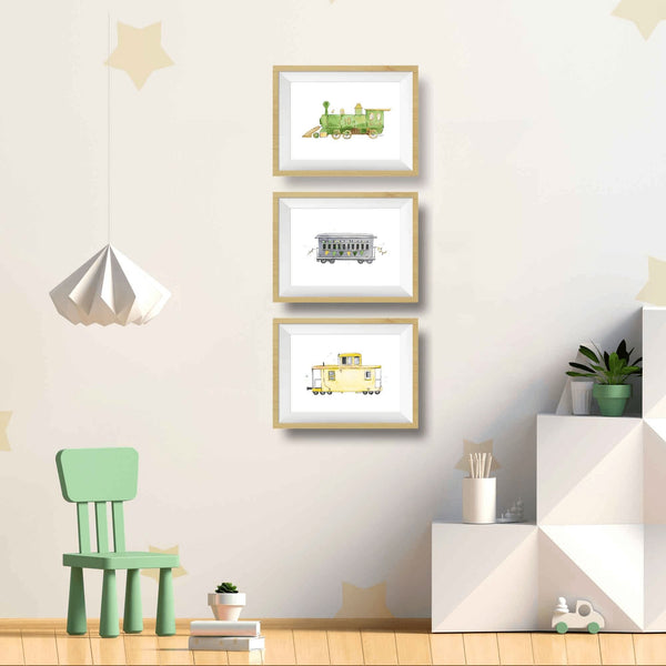 train wall art for toddlers room