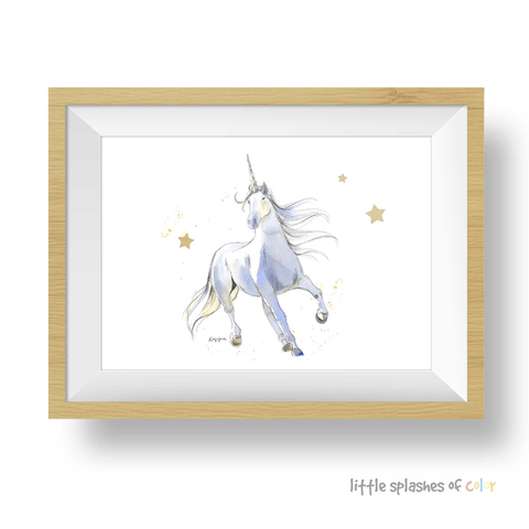 white unicorn printable