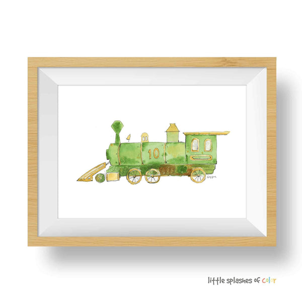 green train printable