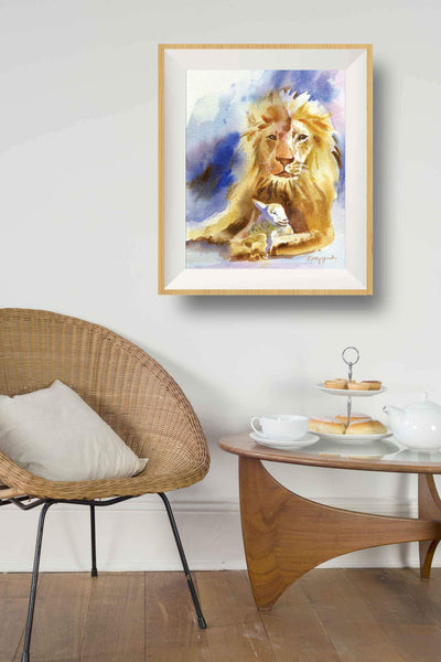 Lion & Lamb Art Print